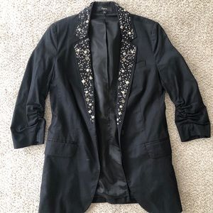 Express Black Blazer with bead detail Size 0